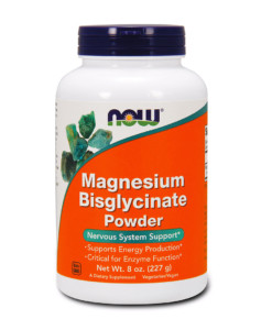 NOW Magnesium Bisglycinate Powder - hořčík prášek