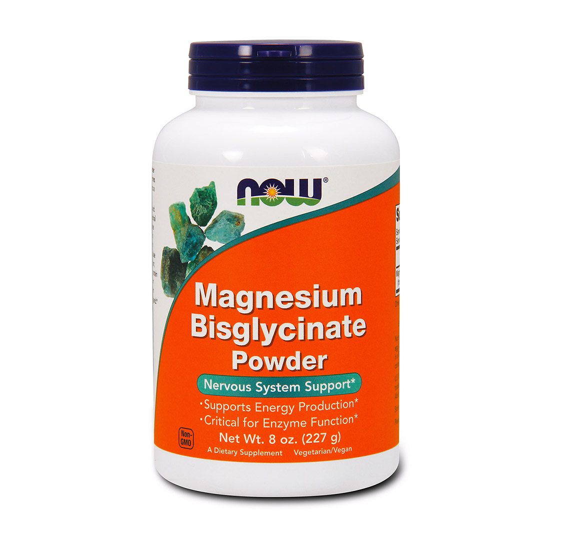 NOW Magnesium Bisglycinate Powder - hořčík prášek