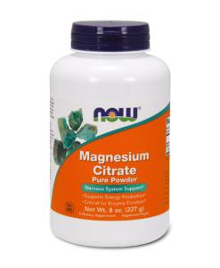 NOW Magnesium Citrate Powder - hořčík prášek