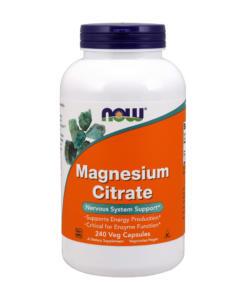 NOW Magnesium Citrate 400 mg - hořčík tobolky